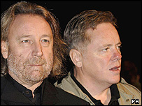 New Order's Peter Hook (left) and Bernard Sumner