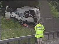 Crash on M4 in June 2003