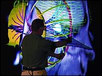 The Scientific Computing and Imaging Institute using Internet2. Photo: Internet2/SCI Institute