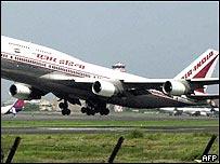 Air India Boeing 747 in Mumbai