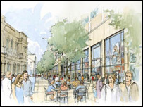 Artists impression of new development