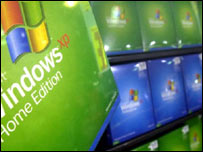Copies of Microsoft Windows XP on sale, PA