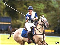 Prince Charles plays polo