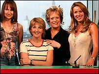 Loose Women regulars Carol McGiffin, Kaye Adams, Sherri Hewson and Claire Sweeney
