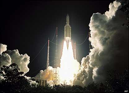 Ariane rocket blasts off