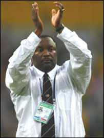 Former South Africa coach Jomo Sono