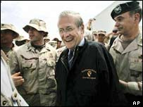 Donald Rumsfeld in Kandahar