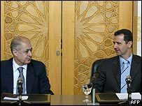Turkish President Sezer with Syrian President Assad