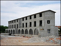 Unfinished building in northern Cyprus