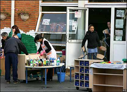 Items are taken out of the nursery in Fives, Lille