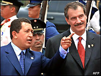 Hugo Ch�vez y Vicente Fox en 2001
