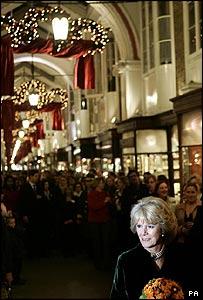 The Duchess of Cornwall at Burlington Arcade