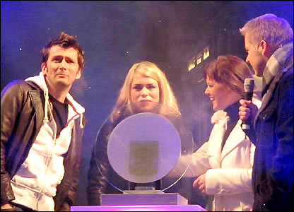 David Tennant, Billie Piper, Claire Summers and Derek Brockway