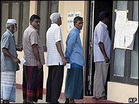 Polling booth in Colombo, Sri Lanka