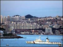 Busan from the sea