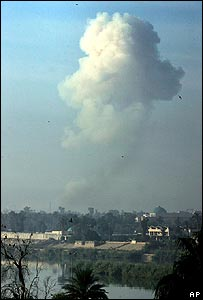 Mushroom cloud over Baghdad on Friday