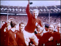 Bobby Moore with World Cup in 1966