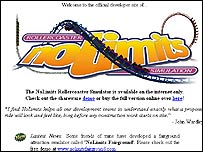No Limits Rollercoaster Simulation website