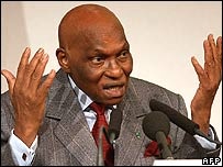 Senegalese leader Abdoulaye Wade