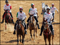 An endurance horse race in Dubai, AFP
