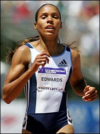 American sprinter Torri Edwards
