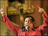 Hugo Ch�vez, presidente de Venezuela.