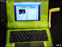 The $100 wind-up laptop, AFP