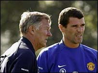 Sir Alex Ferguson (left) with Roy Keane