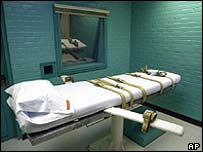 The death chamber in Huntsville, Texas