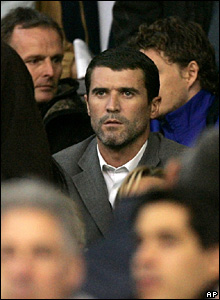 Keane watches Manchester United against Chelsea in 2005