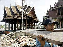 Rebuilding work in Thailand, AFP
