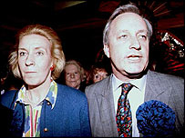 Christine and Neil Hamiton at the count