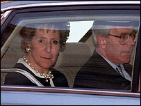 John and Norma Major are driven away from Downing Street after he lost the election