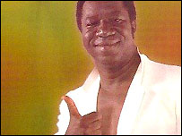 Tabu Ley Rochereau on his album Karibou Ya Bintou