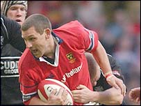 Munster's Jason Holland was making his 100th appearance for Munster