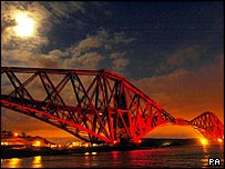 The Forth Bridge near Edinburgh