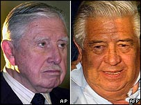 Augusto Pinochet (left) and Manuel Contreras