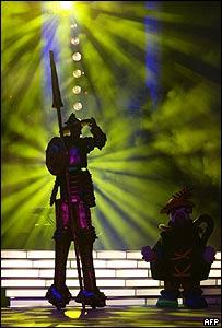 Don Quijote y Sancho Panza en el carnaval de Las Palmas, España.