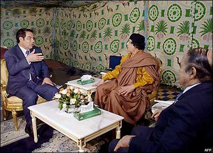 donald trump gaddafi tent. In the below picture, Qaddafi