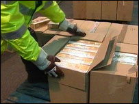 About 15 million cigarettes were seized