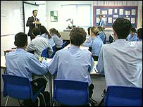 Pupils in class
