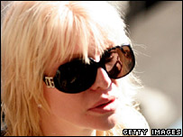 Courtney Love attending court in Los Angeles on Friday