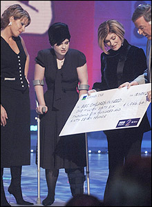 Natasha Kaplinsky, Kelly Osbourne, Sharon Osbourne and Terry Wogan