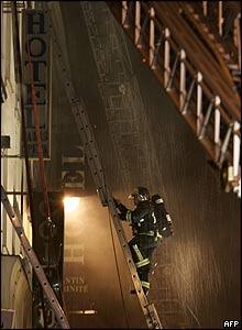 Scene of hotel fire