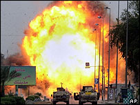 Car bombing in Baghdad, 14 April 2005