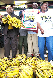 Yes campaigners in action in Nairobi