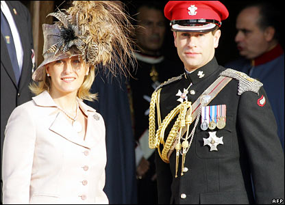 UK's Prince Edward and Sophie, Countess of Wessex