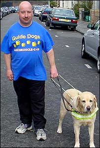 Paul Jenkins and guide dog Ozzy