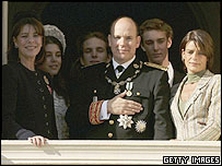 (From left to right) Princess Caroline, Prince Albert and Princess Stephanie