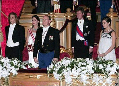Monaco's ruling family at the opera, in a photo released by the palace
